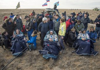 大西宇宙飛行士ソユーズ宇宙船で無事地球に帰還!